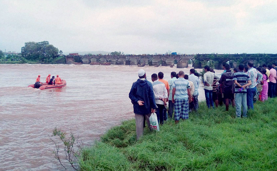 Two bodies have been recovered in the search operations following the collapse of a British-era bridge, on the Mumbai-Goa highway across the river Savitri. The incident happened at around 2 am on Tuesday. PTI