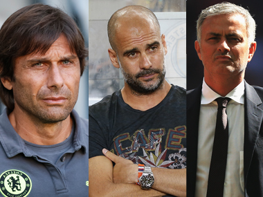 Premier League's new managers Antonio Conte, Pep Guardiola and Jose Mourinho. Getty