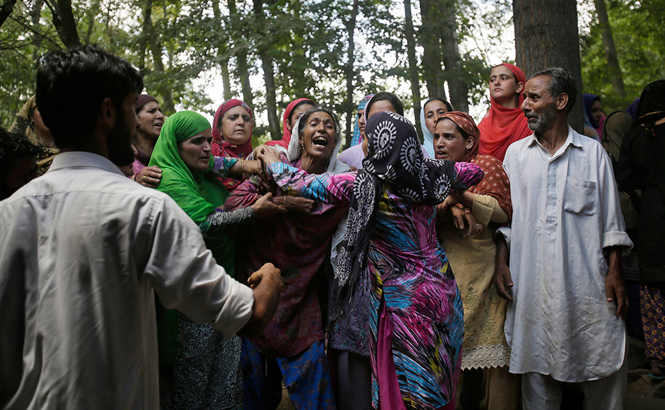 Clashes, encounters, and slogans continued on 38th and now will continue on 39th day as Kashmir continues to reel under a strict curfew. Over 80 people were injured yesterday, some with pellets, in forces' action on pro-freedom protesters. AP