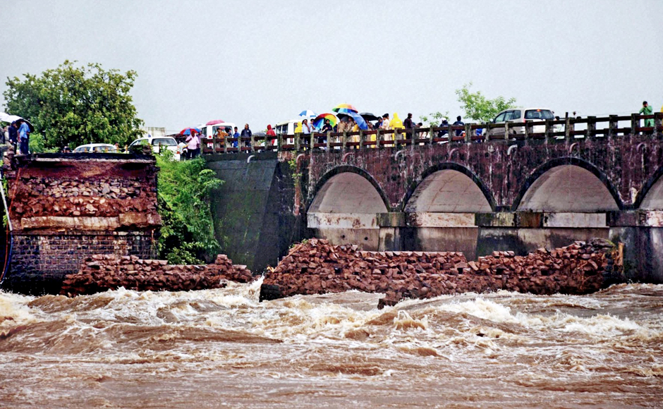 There are two parallel bridges on the river Savitri. The bridge which collapsed was constructed during the British era and could not withstand the tumultuous rain, news reports said. According to reports, traffic has been redirected from the spot. Officials are expecting fewer casualties and lesser damage since the collapse happened late in the night. PTI