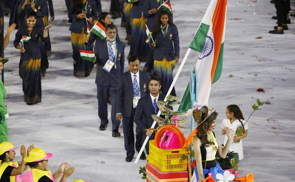 Abhinav Bindra flagbearer_Reuters