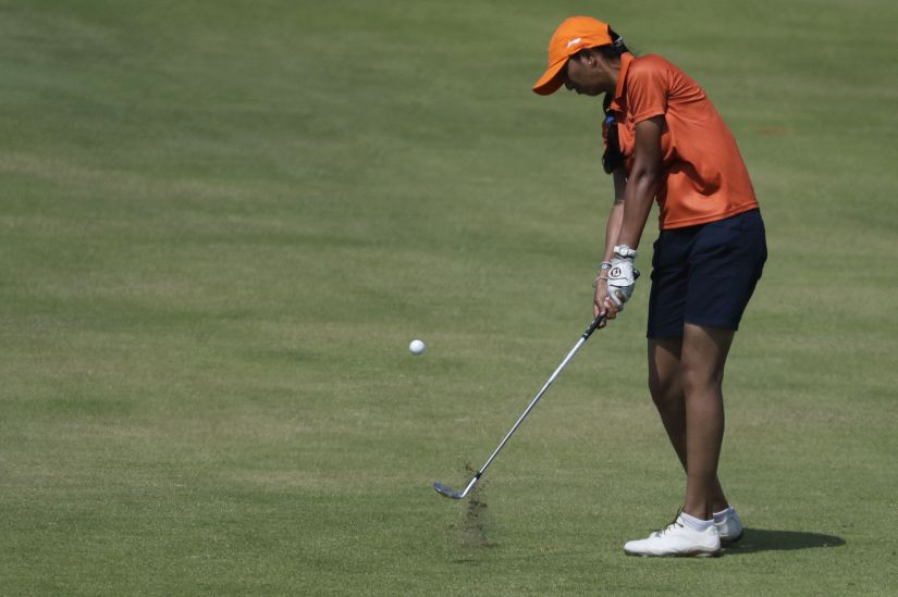 Aditi Ashok of Bangalore, still only 18, is one for the future. AP