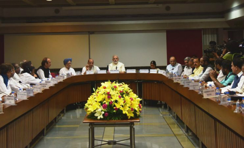 PM Modi at all-party meet on Friday. Twitter @PIB_India