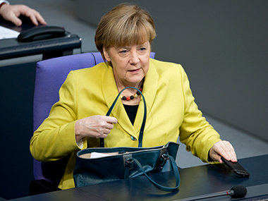 File photo of German Chancellor Angela Merkel. AP
