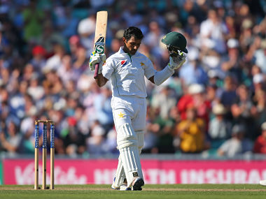 Asad Shafiq celebrates his century during day two of the 4th Investec Test between England and Pakistan. Getty