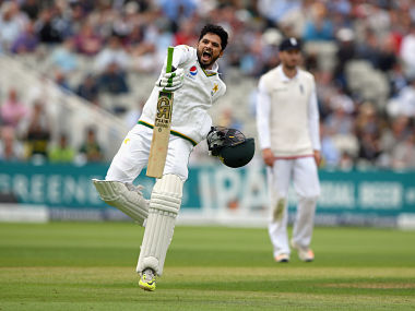 Azhar Ali celebrates his century against England. Getty