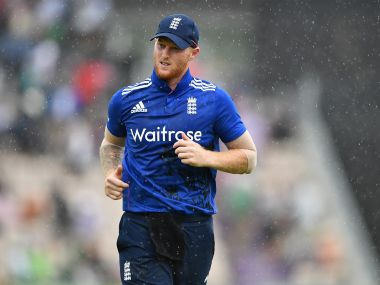 Ben Stokes in action during the 1st ODI between Pakistan and England. Getty