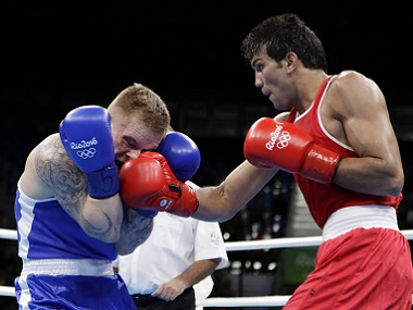 Rio Olympics 2016 Manoj Kumar hands out a boxing lesson to twotime Olympic medal winner Petrauskas