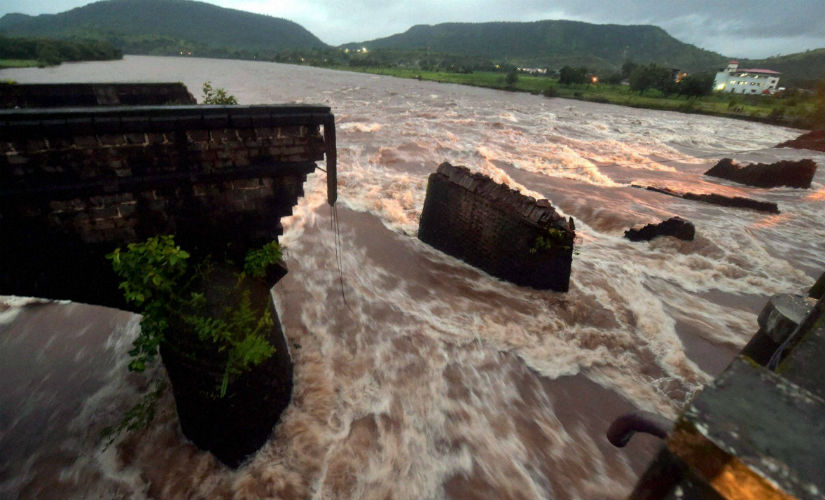 The bridge, constructed during British-era, caved in at around midnight on Tuesday. PTI
