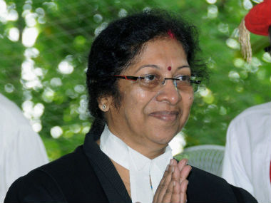Manjula Chellur swornin as the Chief Justice of Bombay High Court