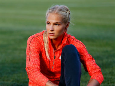 File photo of Russian track athlete Darya Klishina. Getty Images
