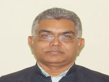 File photo of Dilip Ghosh. Twitter