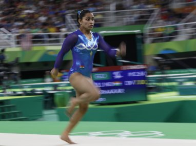 Dipa Karmakar competing in Rio Olympics 2016. AFP