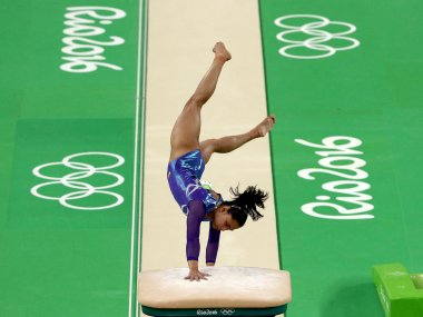 Dipa Karmakar competes in the Women's Vault Final at the Rio 2016 Olympic Games. Getty