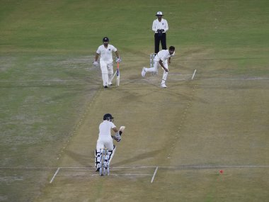 Players in action during a Duleep Trophy cricket match. AFP