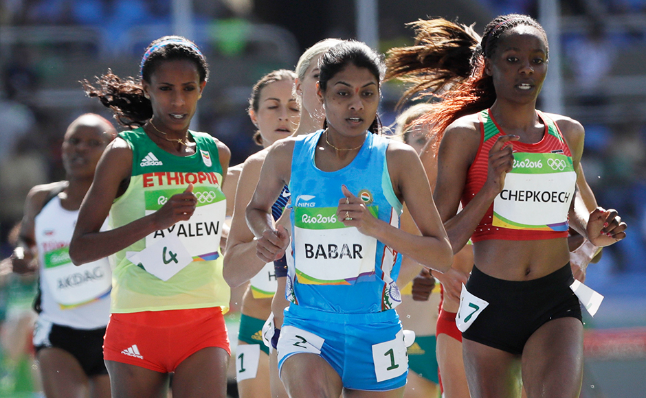 Lalita Babar's performance in the women's 3,000 metre steeplechase event heats shattered the national record. Lalita will be seen in the final on 15 August. AP