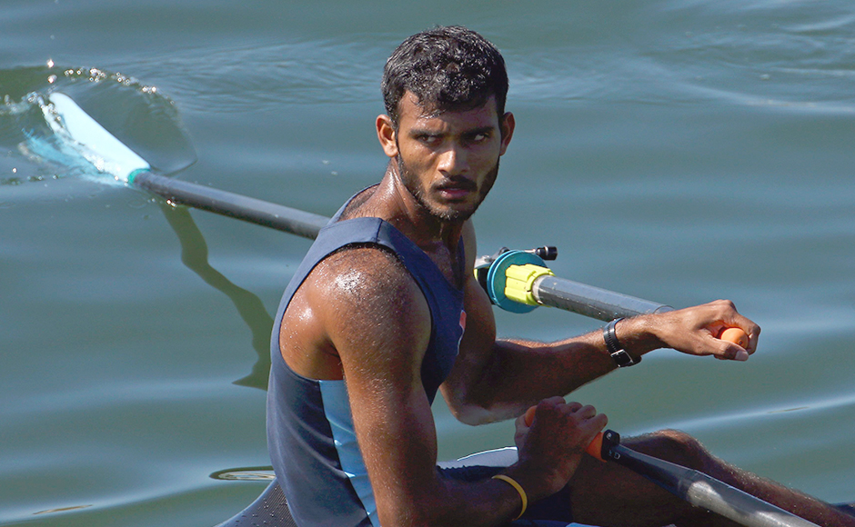 Rower Dattu Bhokanal may be out of the medal contention, but he still impressed everybody by finishing on top of Final C in men's single sculls. He finished 13th overall. AP.