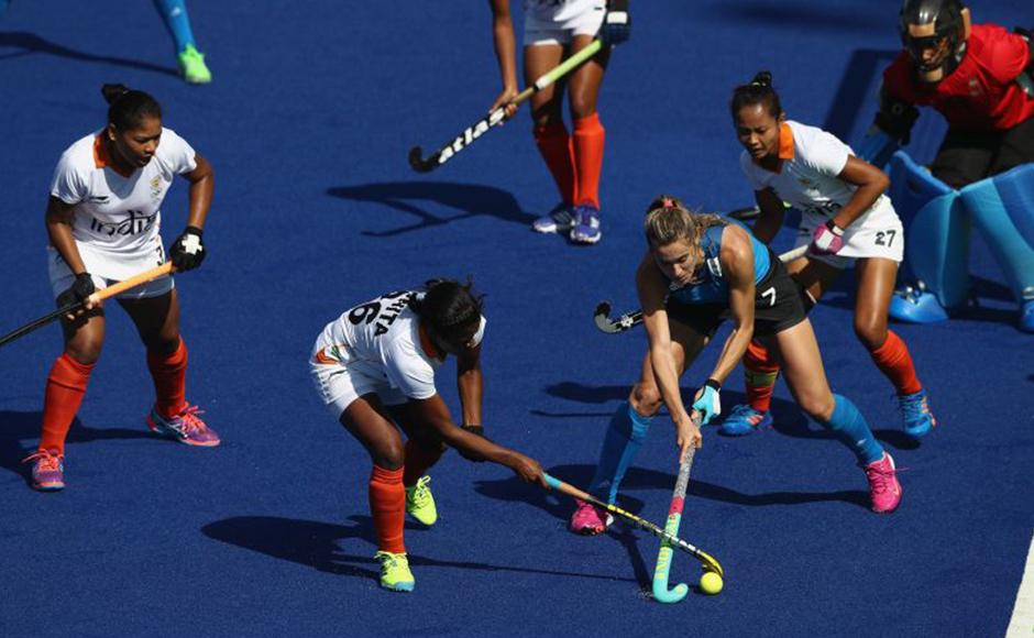 The performance of the women's hockey team, which conceded five goals to Argentina in a single quarter, further doused the spirits. Getty Images.