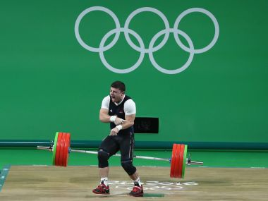 Rio Olympics 2016 Armenian weightlifter Andranik Karapetyan rushed to hospital with elbow injury
