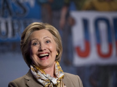Democratic presidential candidate Hillary Clinton. AP