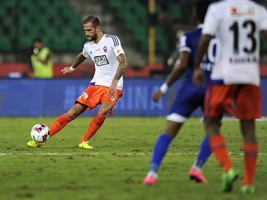 Roger Johnson in action for Pune City FC in 2015. Agencies