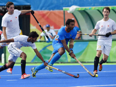 Scenes from the India-Canada clash on Day 7 of the Rio Olympics 2016. PTI