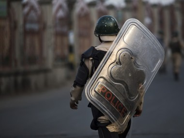 Indian paramilitary soldiers deployed during curfew hours in Srinagar. AP