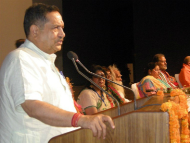A file image of  senior RSS functionary Indresh Kumar. Twitter @RSS_org
