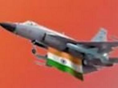 Screengrab of  the JF-17 with tricolour in I-day video. Image source: Twitter @MinOfCultureGoI