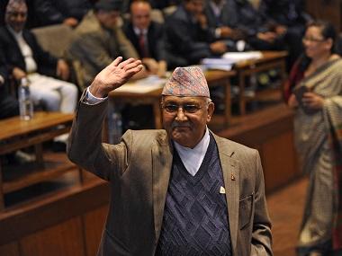 Former Nepal PM KP Oli. AFP