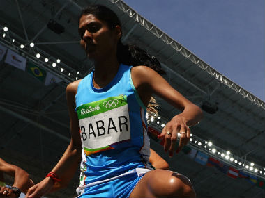 Lalita Babar during the women's 3000m steeplechase final at the Rio Olympics. Getty Images