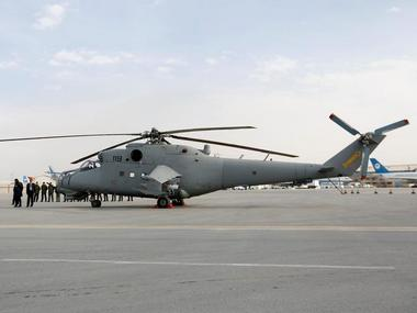 A helicopter donated by India is parked at the airport in Kabul, Afghanistan. Reuters