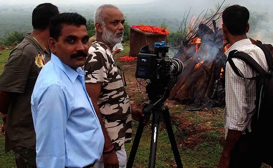 Hemraj Meena, guide and naturalist at the funeral of Machhli in Ranthambore. The death of the tigress made national headlines in India. Firstpost / Hemraj Meena