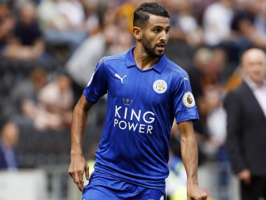 File photo of Leicester City's Riyad Mahrez. Reuters