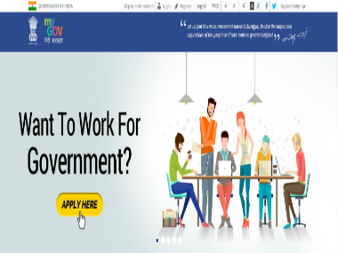 Representational image of MyGov portal. Screenshot from the website
