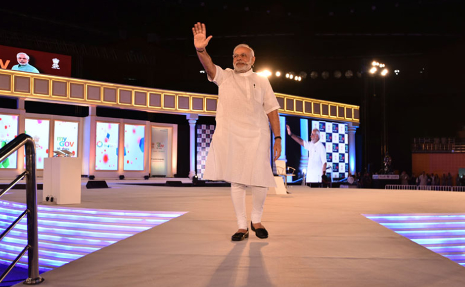 The Prime Minister, Shri Narendra Modi at the 2nd Year Anniversary celebrations of MyGov, in New Delhi on August 06, 2016. PIB