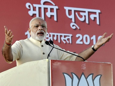 "Prime Minister Narendra Modi's speech after the ""bhoomi poojan""  for the start of construction work for the new BJP headquarters at Deendayal Upadhyaya (DDU) Marg in New Delhi on Thursday. PTI"