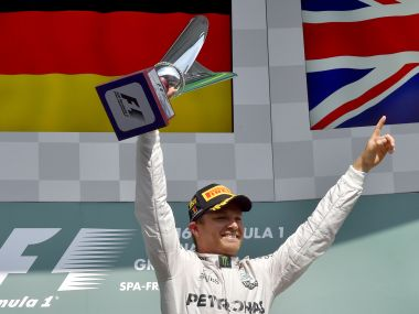 Nico Rosberg kept hopes of winning the drivers' championship alive with pole position in Belgium. AFP