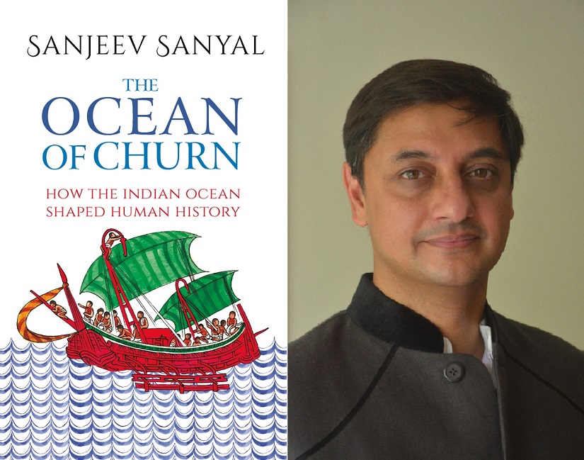 'Ocean of Churn' weaves a compelling narrative around how the Indian Ocean shaped human history; (R) author Sanjeev Sanyal