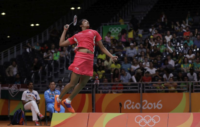India's PV Sindhu returns a shot to Taiwan's Chou Tai Tzu-ying. AP