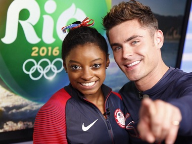 Simone Biles finally met her longtime celebrity crush Zac Efron, and boy, was she excited!