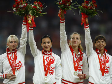 Russia stripped of Beijing Games silver in womens 4x400 relay over doping offence