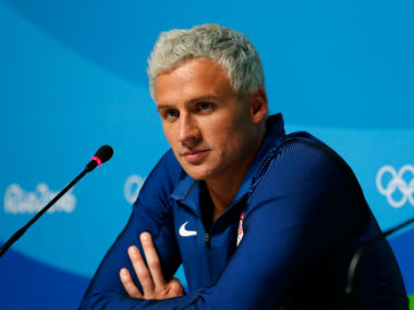 Ryan Lochte had initally reported being mugged at gunpoint in the host city. Getty Images