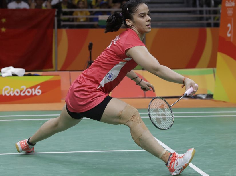 India's Saina Nehwal during her match in the Olympics. AP