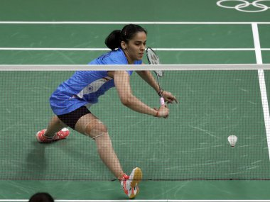 Saina Nehwal was on medication to reduce pain during her match against Maria Utilina. AP