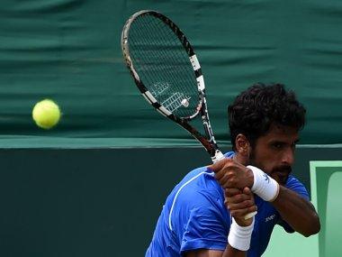 File photo of India's Saketh Myneni. AFP