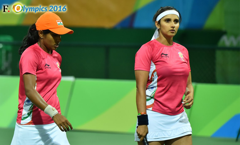 Sania Mirza and Prarthna Thombare. Image Credit: Twitter @OlympicsTennis