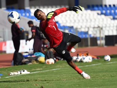 File image of Indian Goalkeeper Subrato Paul in action. PTI