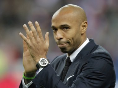 File photo of former French and Arsenal player Thierry Henry. AP