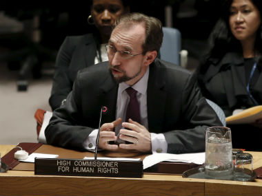 File image of  UN High Commissioner for Human Rights Zeid Ra'ad al-Hussein. Reuters